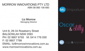 Liz Morrow Business Card Back