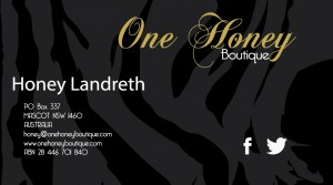 Honey Ladrith Business Card Front
